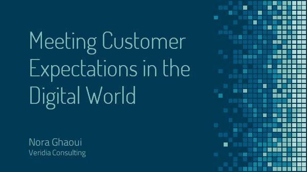 Seminar: 'Customer expectations in a digital world'